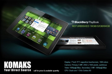 "SOLD ! 64GB BlackBerry PlayBook 7"" REFURBISHED , 6 months warranty"