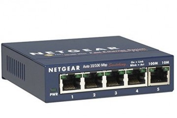 LAN Netgear FS105IS 5 x 10/100 Mbps Fast Ethernet Switch Netgear